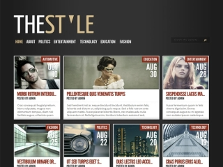 WordPress Site type - Magazine