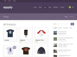 WordPress Site type - Shop