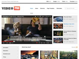 WordPress Site type - Video