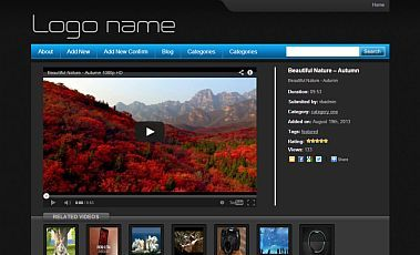 BlackVideoTube free WordPress video theme